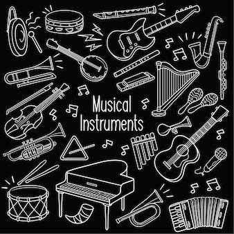 Doodle muziekinstrumenten