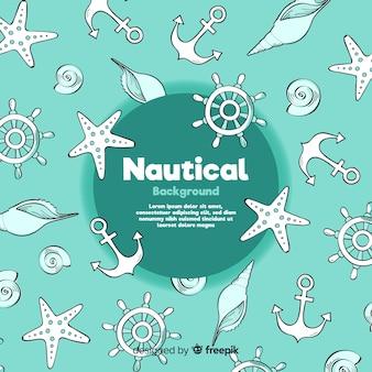 Doodle nautische achtergrond