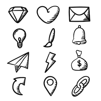 Doodle pictogramserie