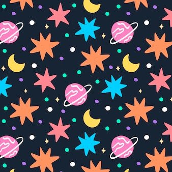 Doodle ruimte patroon