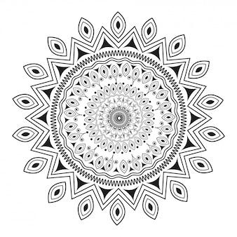 Doodle stijl bloemen mandala patroon ontwerp.