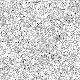 Doodle stijl getekend blad afbeelding