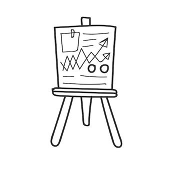 Doodle van bedrijfsgegevensanalysebord
