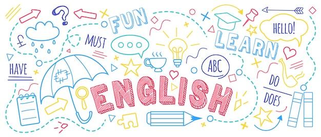 Doodle van cursus vreemde talen