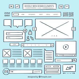 Doodle web element collectie