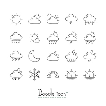 Doodle weerpictogrammen