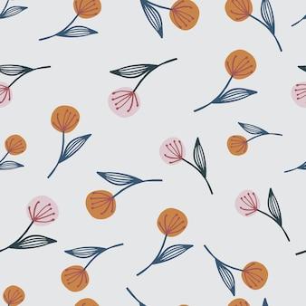 Doodle willekeurige paardebloem op naadloze patroon. lichtgroene achtergrond. botanisch behang.
