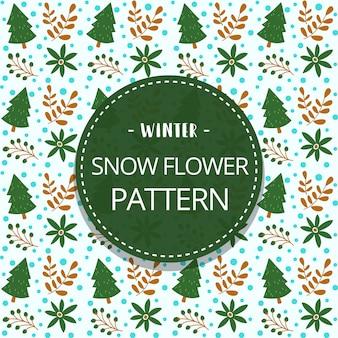 Doodle winter naadloze patroon sjabloon met pijnboom