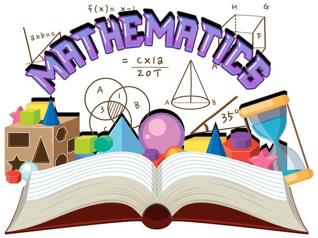 Doodle wiskundige formule met wiskunde lettertype
