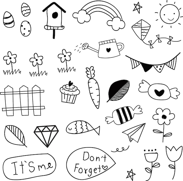Doodle zomer collectie patroon