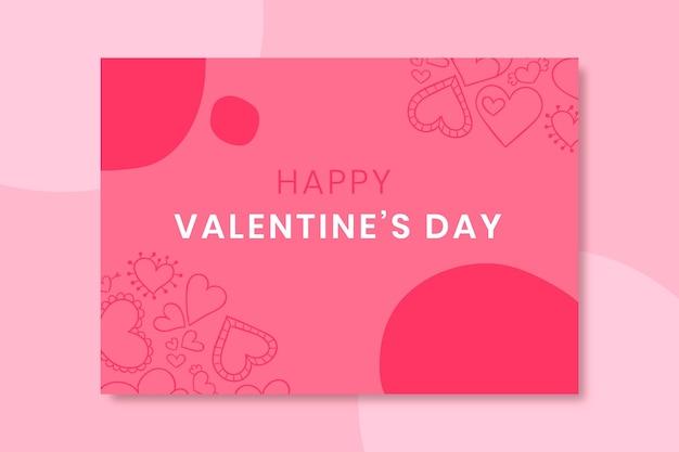 Doodled valentijnsdag kaart