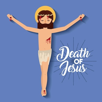 Doods kruisiging van jezus christus