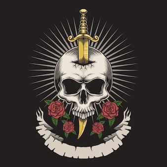 Doodskop roos