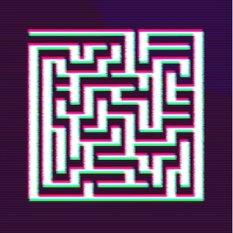 Doolhof of labyrint geometrische vector design. idee of besluitvormingsconcept