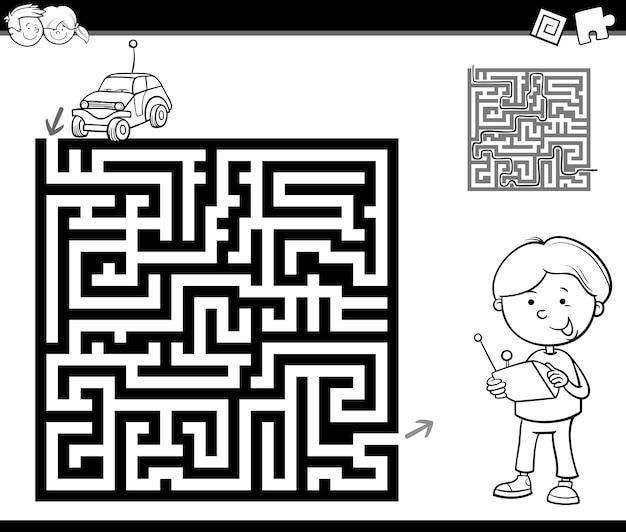 Doolhof of labyrint kleurplaat
