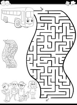 Doolhof of labyrint om in te kleuren