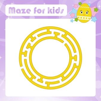 Doolhof. spel voor kinderen. grappig labyrint. activiteitenpagina. puzzel voor kinderen.
