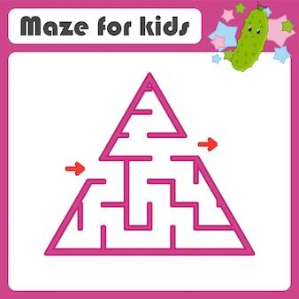 Doolhof. spel voor kinderen. grappig labyrint. onderwijs ontwikkelt werkblad. activiteitspagina.