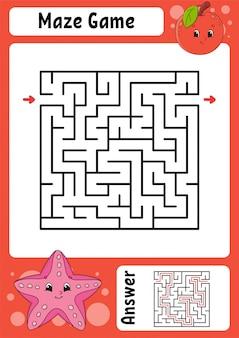 Doolhof. spel voor kinderen. grappig labyrint. onderwijs ontwikkelt werkblad.