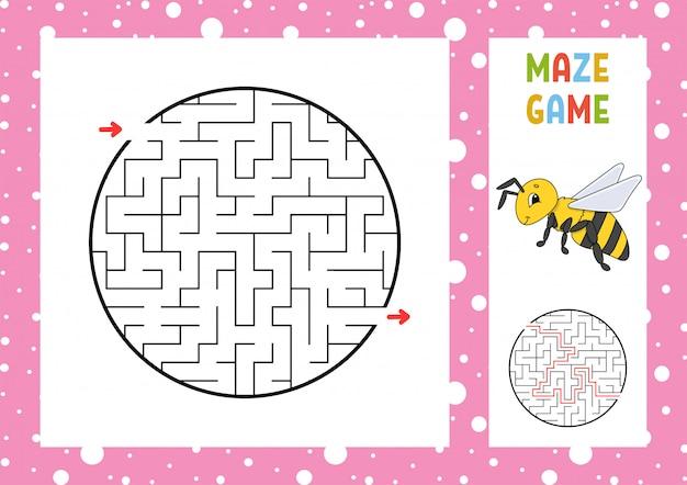 Doolhof. spel voor kinderen. grappig labyrint. werkblad voor het ontwikkelen van onderwijs.