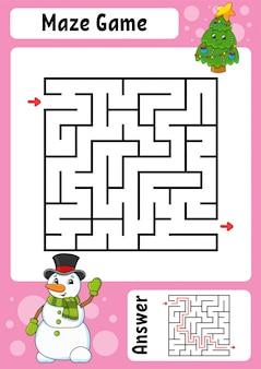 Doolhof. spel voor kinderen. grappig labyrint.