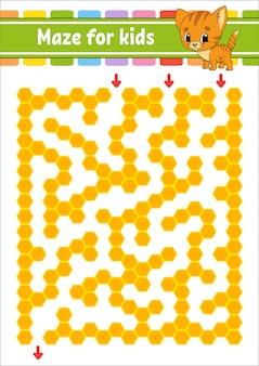 Doolhof. spel voor kinderen.