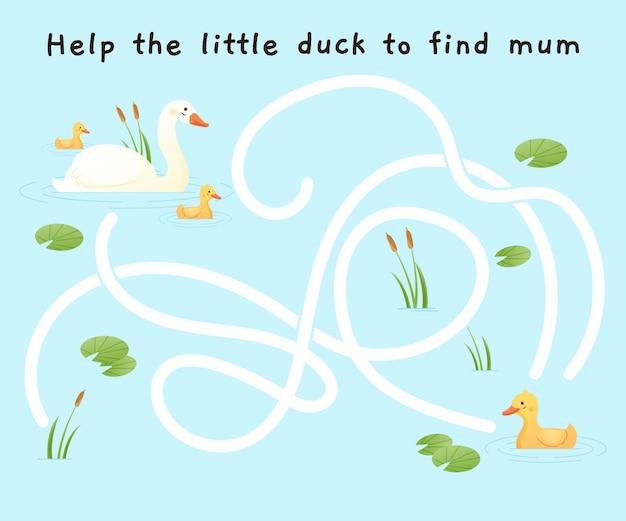 Doolhof voor kinderen illustratie