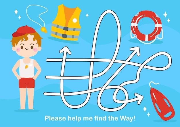 Doolhofspel voor kinderen puzzel