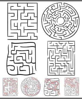 Doolhoven of labyrinten diagrammen instellen