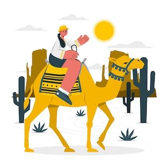 Door de woestijn concept illustratie