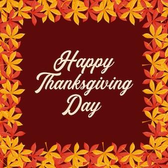 Doorbladert kader van thanksgiving day