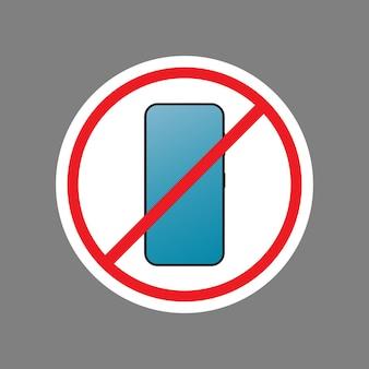 Doorgestreept telefoonpictogram. het concept van verbodsapparaten, vrije zone-apparaten, digitale detox. leeg voor sticker. geïsoleerd. vector.