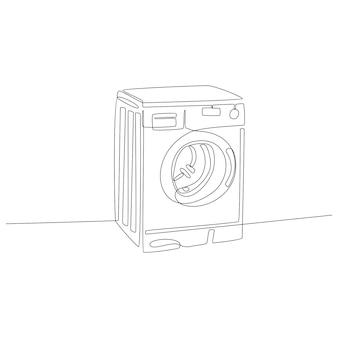 Doorlopende lijn wasmachine vector