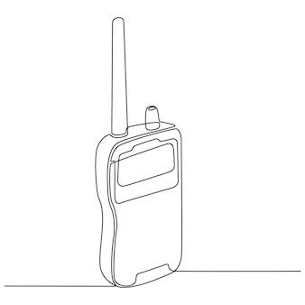 Doorlopende lijntekening van noodcommunicatieapparatuur vectorillustratie