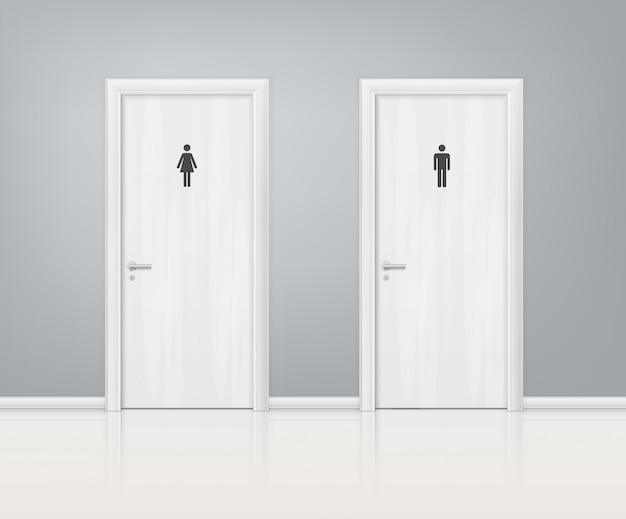 Doors wc realistische compositie