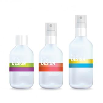Doorzichtig plastic antibacterieel alcoholontsmettingsmiddel ethyl spray bottle design