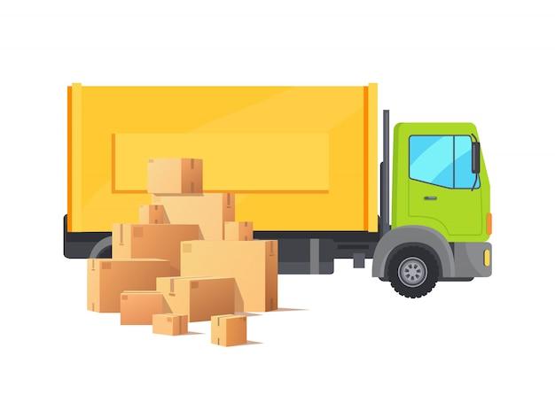 Doos karton pakket kartonnen pakketten auto