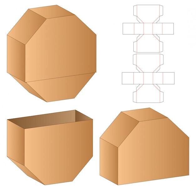 Doos verpakking gestanst sjabloon 3d-ontwerp