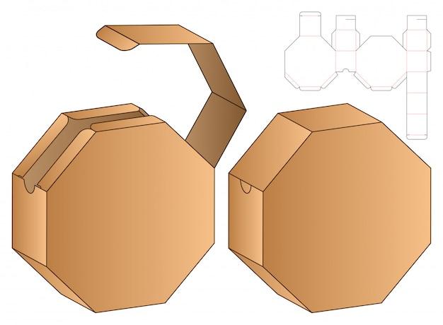 Doos verpakking gestanst sjabloon. 3d