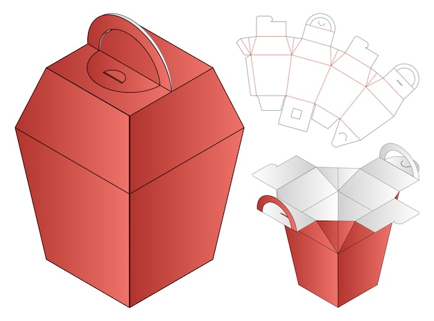 Doos verpakking gestanst sjabloon