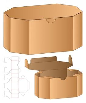 Doos verpakking gestanst sjabloonontwerp. 3d-mock-up Premium Vector