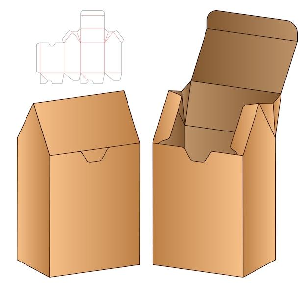 Doos verpakking gestanst sjabloonontwerp