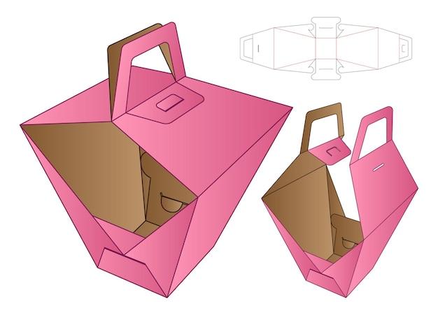 Doos verpakking gestanst sjabloonontwerp.