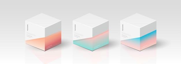 Doos, verpakkingssjabloon voor product vectorontwerp, vectorillustratie