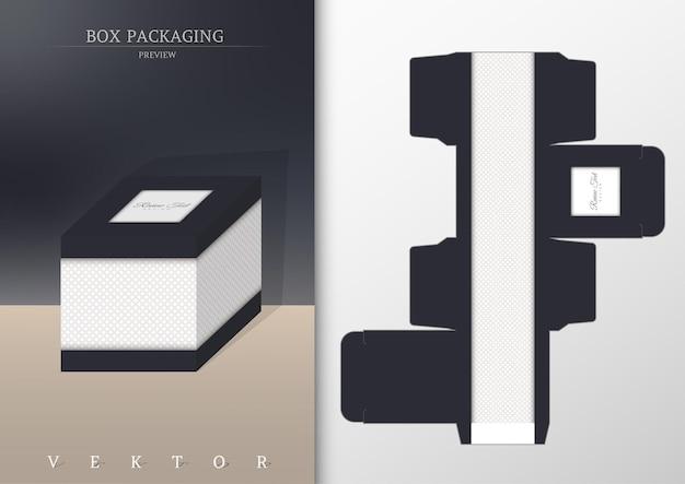 Doosverpakking en gestanste sjabloon