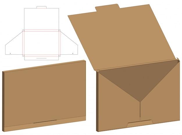 Doosverpakking gestanst matrijsontwerp. 3d mock-up