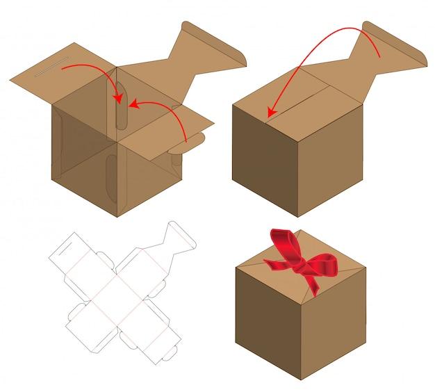 Doosverpakking gestanst matrijsontwerp.