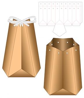 Doosverpakking gestanst matrijsontwerp