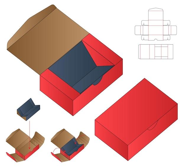 Doosverpakking gestanst sjabloonontwerp
