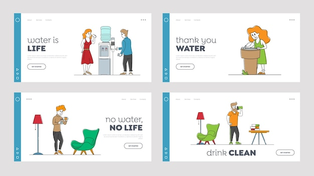Dorstige mensen drinken vers water